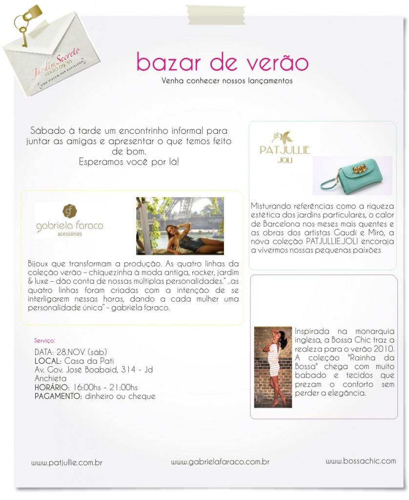 convite bazar verao