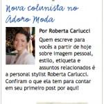 Roberta Carlucci no portal Adoro Moda!