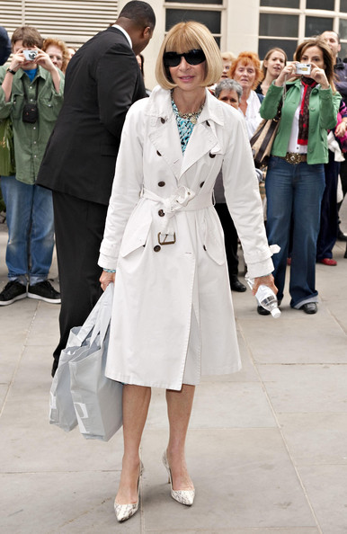 Trench coat Anna Wintour