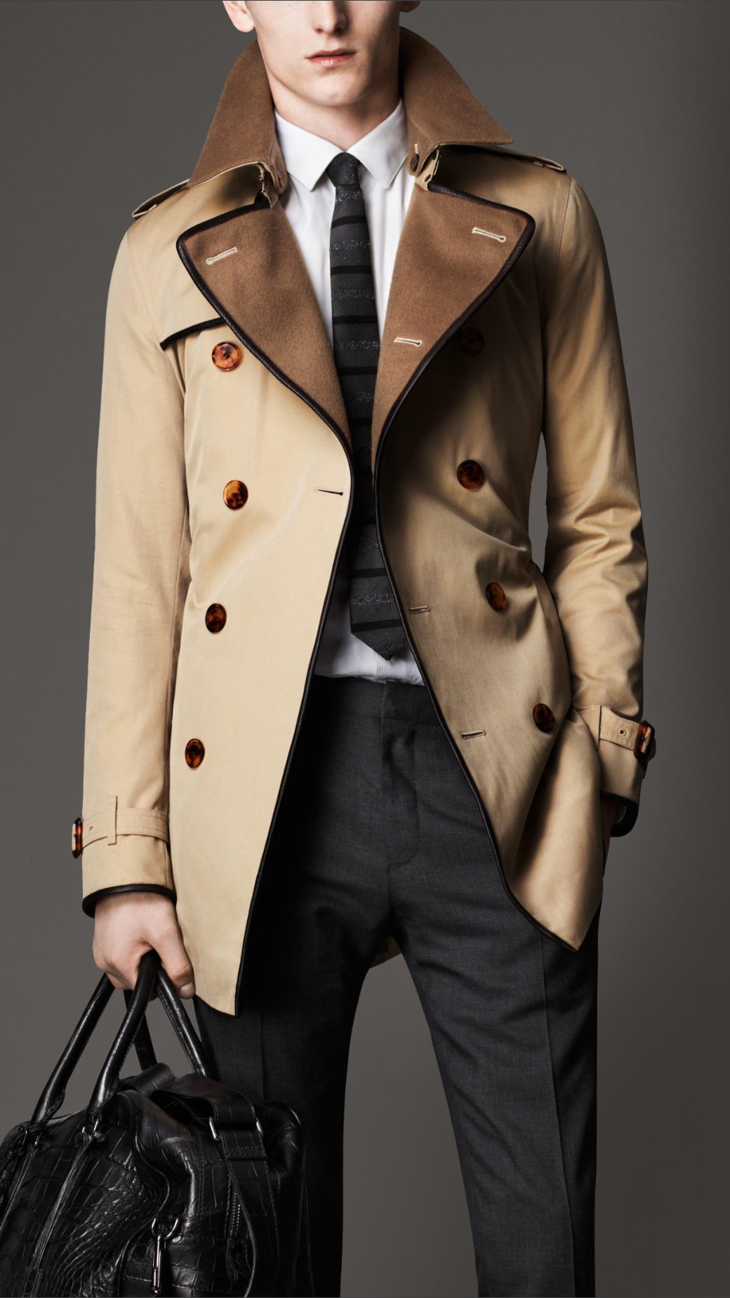 Trench coat homens 4